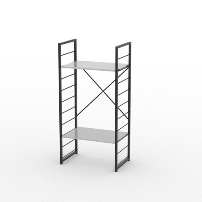 (組)特力屋萊特二層架黑框/白板-60x40x128cm