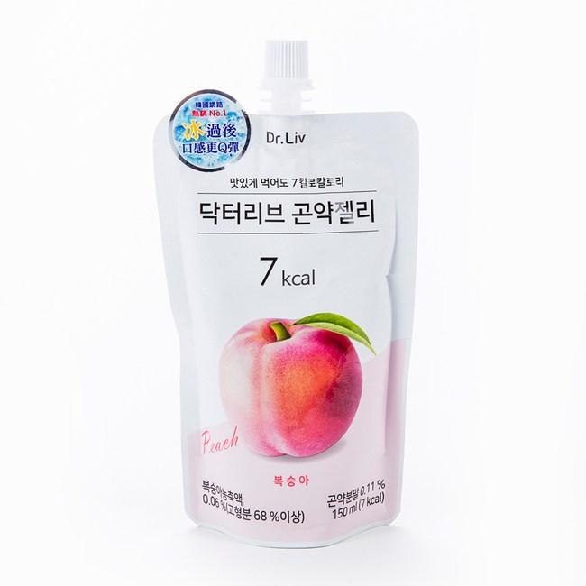 韓國DR.LIV低卡蒟蒻水蜜桃口味