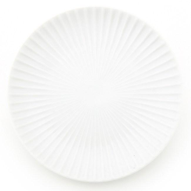 HOLA 日本洛紋餐盤 16cm 白