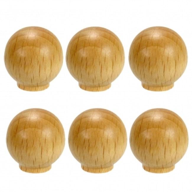 圓形櫸木取手25MM (6pc/包)