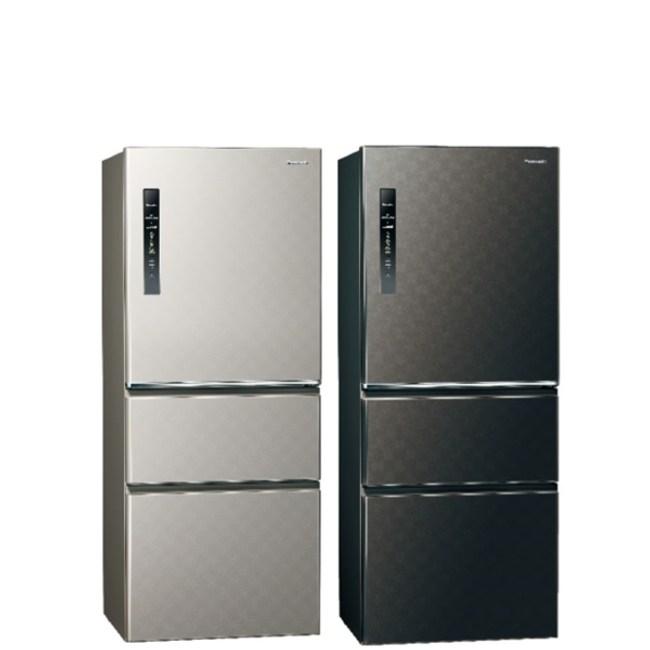 國際牌500公升三門變頻鋼板冰箱絲紋灰NR-C500HV-L絲紋灰
