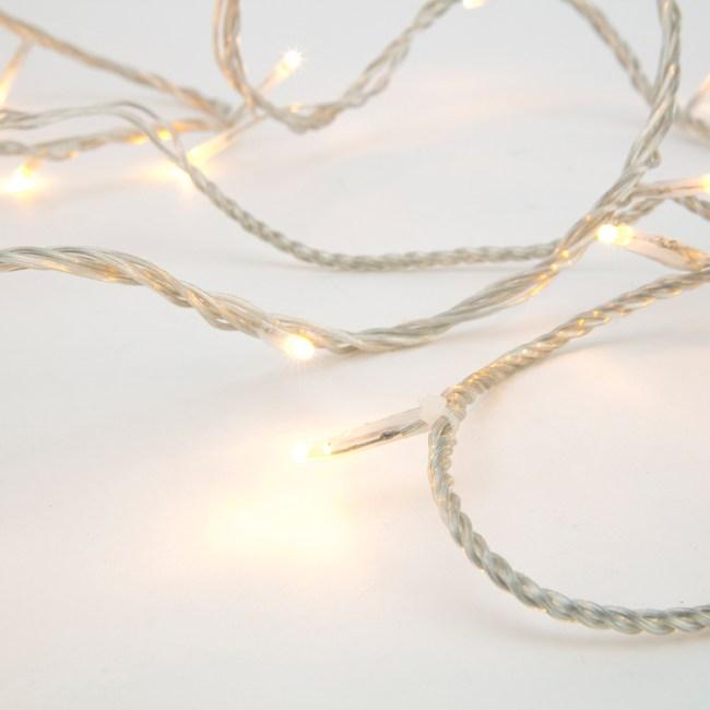 240燈LED晶鑽跑馬燈 暖白(透明線)