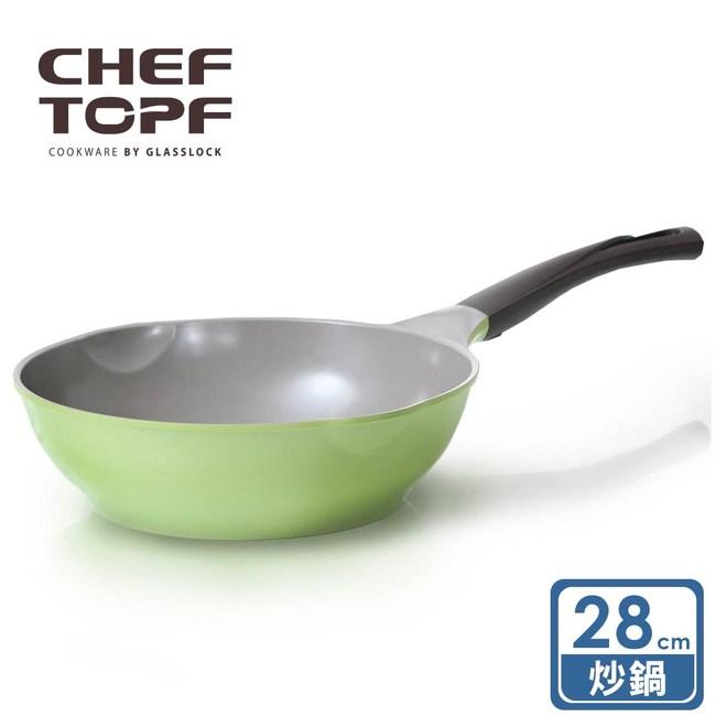 【韓國Chef Topf】La Rose玫瑰薔薇系列28公分不沾炒鍋