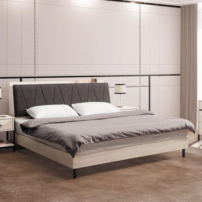 伯恩5尺床架式床底(不含床頭)