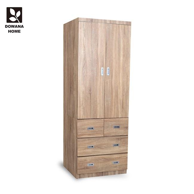 【LOHA】日式工業3X7尺四抽衣櫃/衣櫥 三色 多瓦娜梧桐色