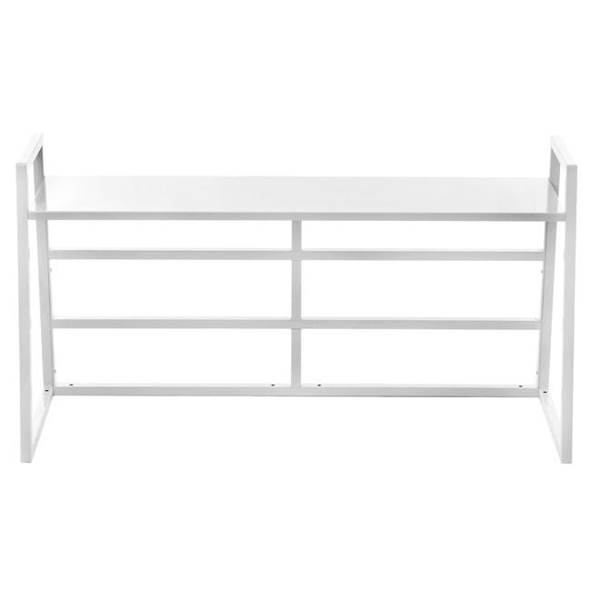 特力屋萊特書桌 上層架配件 白色 104x34.2x55cm