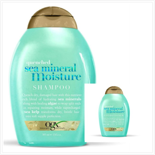 美國Ogx海洋礦物保濕有機洗髮乳*2+潤髮乳*1