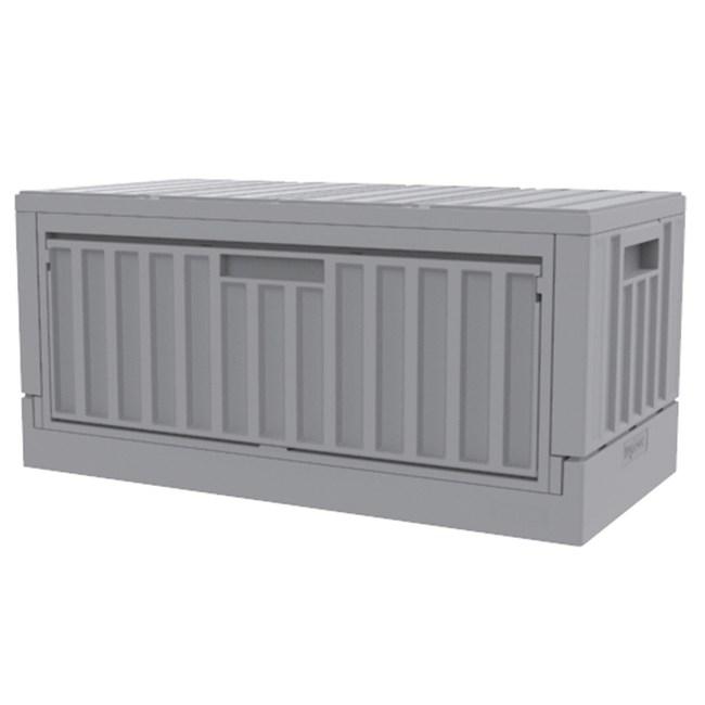 HOLA 側開摺疊貨櫃箱 45L 灰色