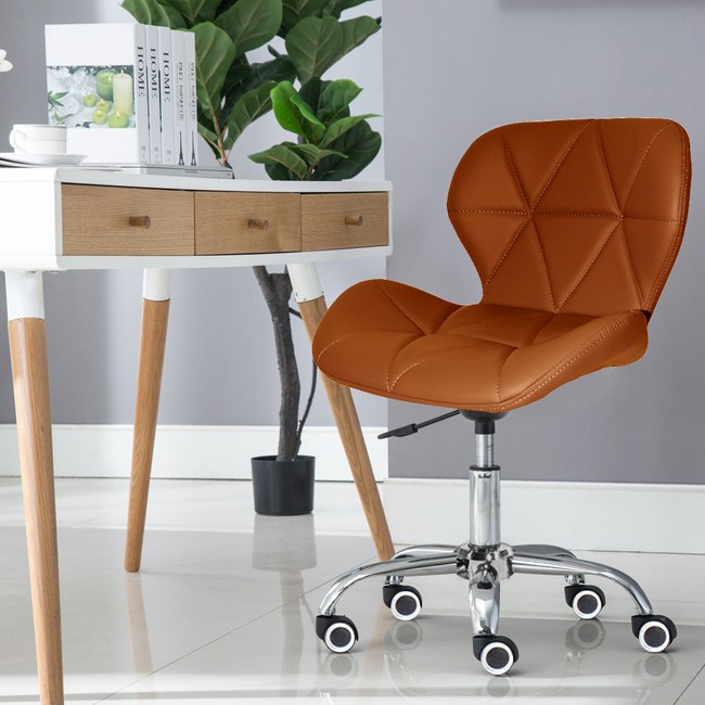 E-home Radar雷達軟墊電腦椅 棕色棕色