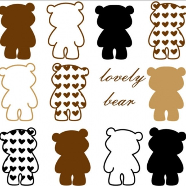 創意無痕壁貼 愛心lovely小熊