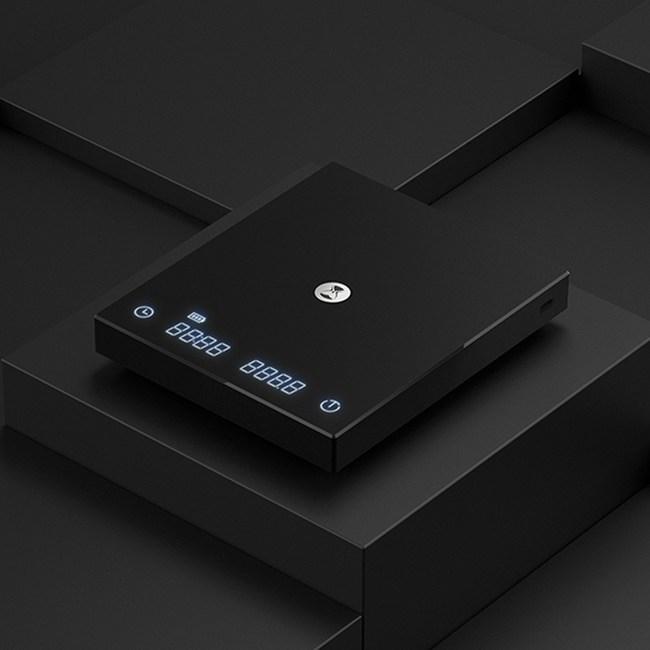 TIMEMORE泰摩 黑鏡BASIC LED觸控秤重計時電子秤-黑