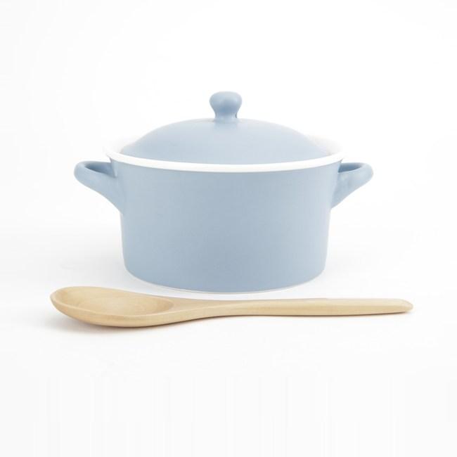 HOLA 多功能蓋碗附木匙 藍