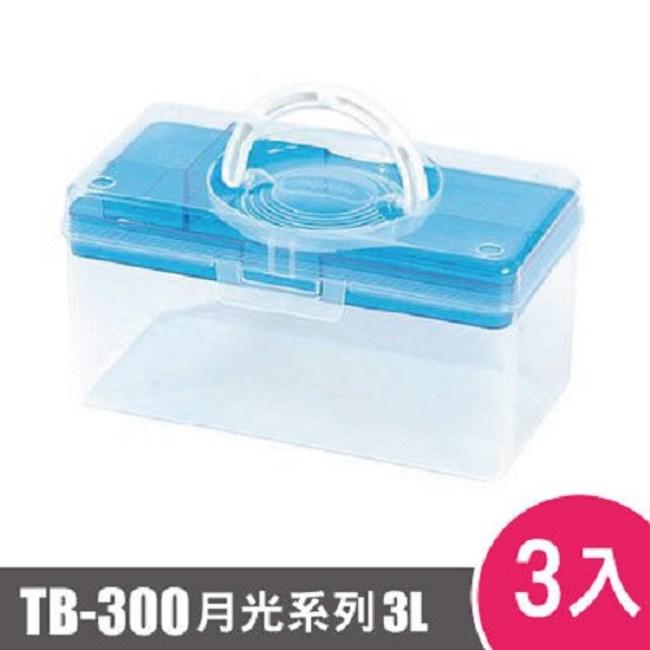 樹德SHUTER月光系列手提箱300型TB-300 3入藍