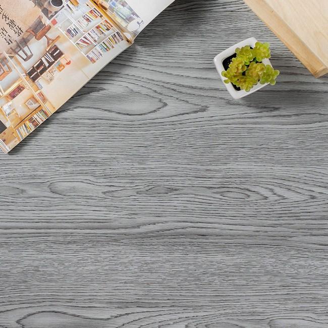 樂嫚妮 DIY仿木紋地板貼-1.5坪 126-煙燻灰橡木X36