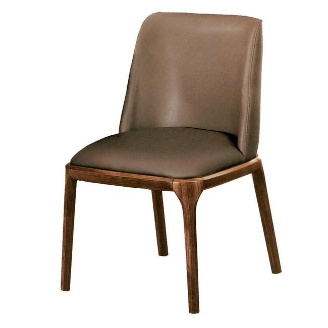【YFS】菲碧淺胡桃皮面餐椅-54x52x87cm(三色可選)咖啡皮