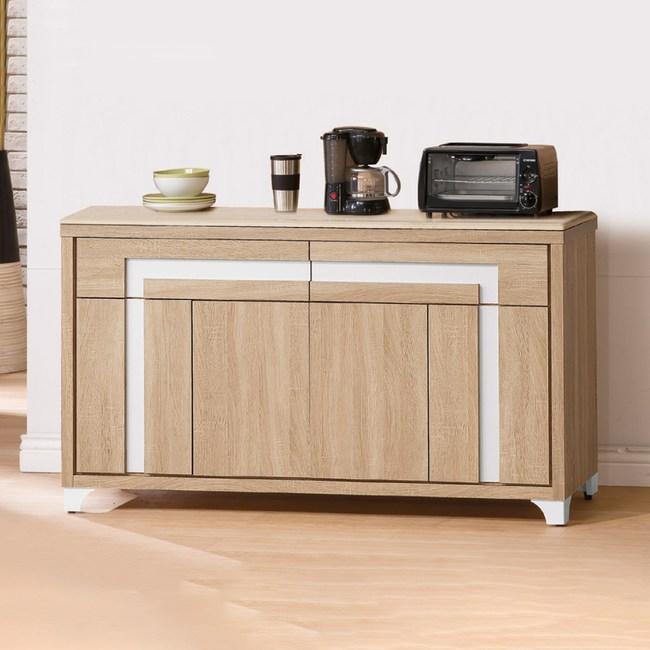 【YFS】艾斯北原橡木5尺石面餐櫃下座-150x45x81cm