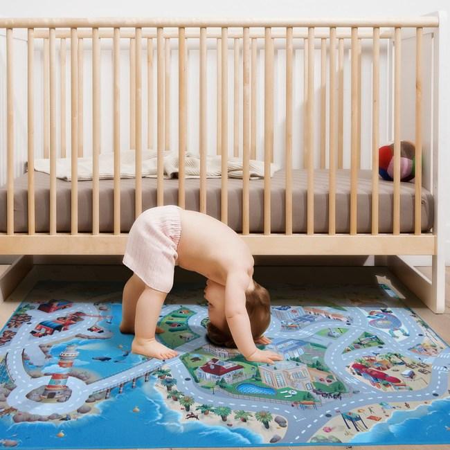 3D印花遊戲毯100x150cm 蔚藍城市