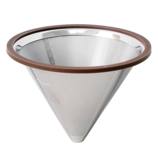 【日本寶馬】1~4杯錐型極細雙層不鏽鋼濾器 HK-S-V02-N