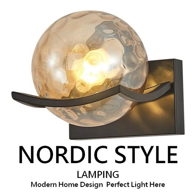 【威森家居】北歐 托盤圓球壁燈 L180501奶白玻璃罩 黑色