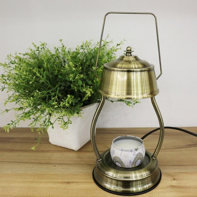 復古香氛蠟燭暖燈-青古銅色 送 VOLUSPA蠟燭-日光和煦