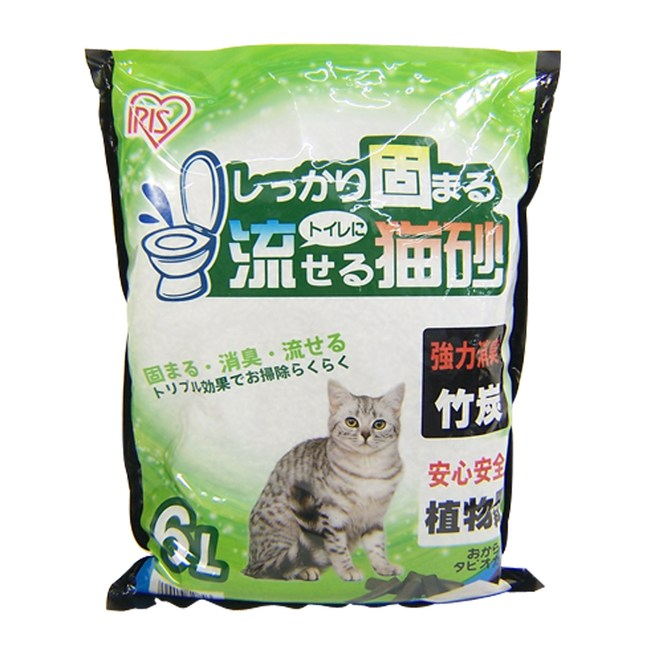 IRIS竹炭味豆腐猫砂6L