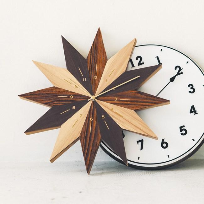 Zeller Life| 菱形花朵 靜音 時鐘 掛鐘