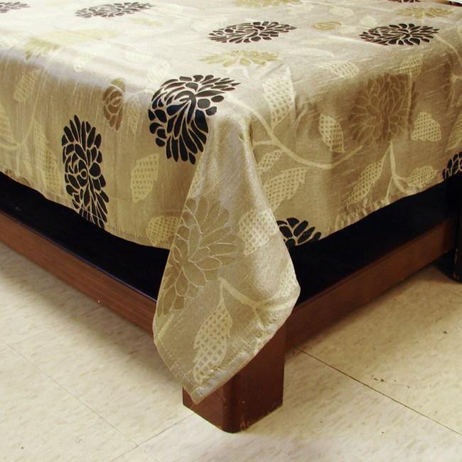 奢華風緹花桌巾 綠色款 140x195cm