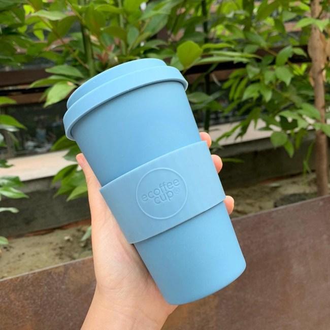 Ecoffee Cup|環保隨行杯14oz(霧灰藍)