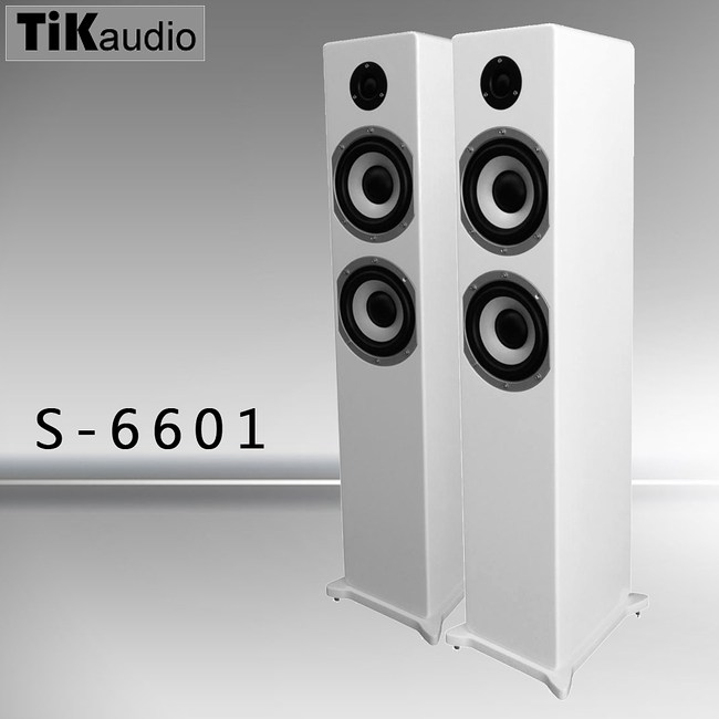 TiKaudio S-6601 落地型主聲道喇叭 白