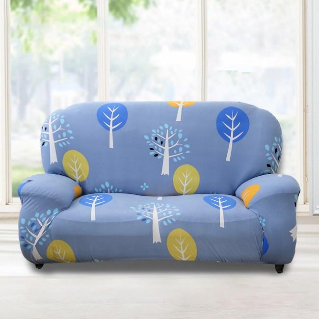 【格藍傢飾】小樹森林彈性沙發套-3人