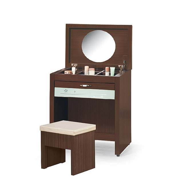 【YFS】亞恒2.1尺胡桃色化妝桌-64x46x77cm