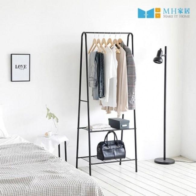 【MH家居】吊衣架 韓國 梅爾森收納掛衣架 二層款黑色