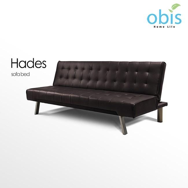 obis Hades 現代風新穎皮質沙發床-咖色