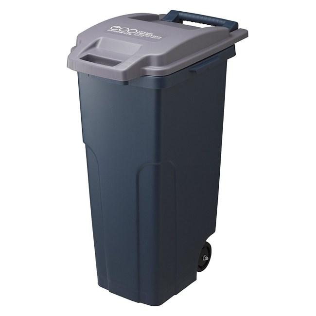 【日本RISU】戶外型大容量連結式垃圾桶 70L-海軍藍色