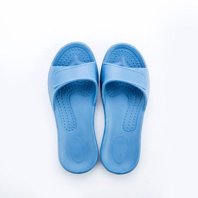 HOLA EVA柔軟兒童室內拖鞋蒼藍 24號