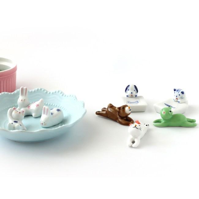 陶瓷筷架 日安動物 混款