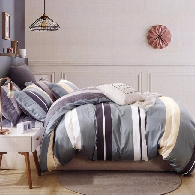 BUTTERFLY-純棉三件式枕套床包組-安東尼(加大)