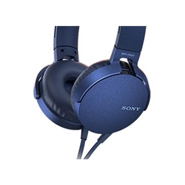 【送收納袋】SONY MDR-XB550AP 藍 EXTRA BASS耳罩式耳機