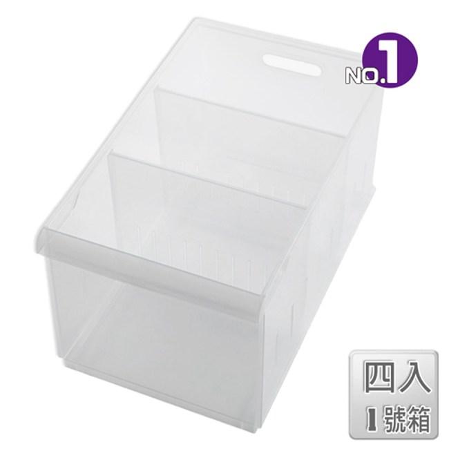 【收納屋】「無印美學」積木01隔板整理盒(附輪)(四入)