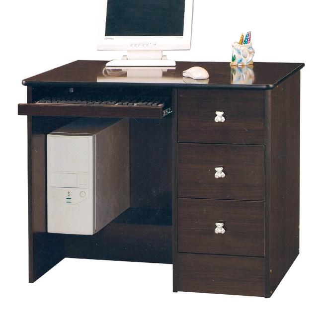 【YFS】瓊安娜胡桃3尺書桌-90x57x75cm