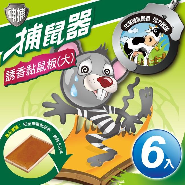 神捕 超值6入誘香黏鼠板(大)-乳酪香