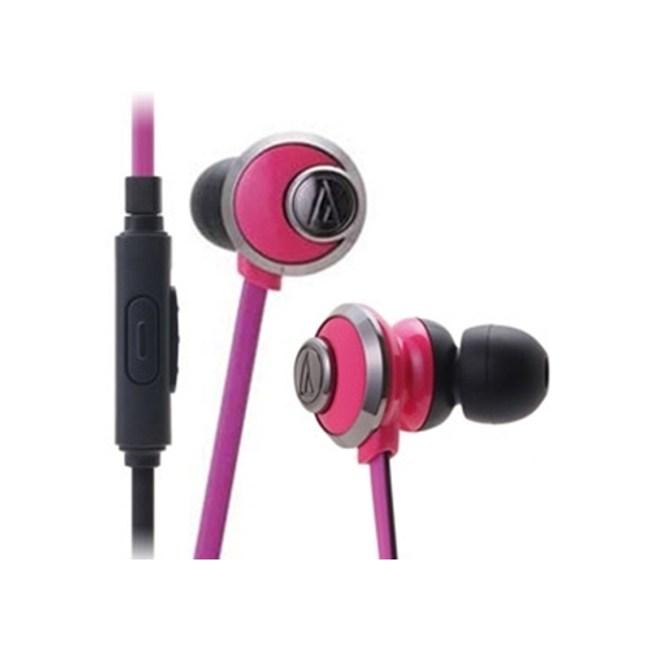鐵三角 ATH-CKF77iS 粉色 重低音 支援手機接聽