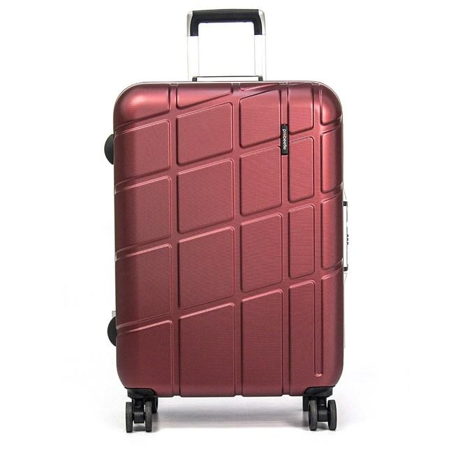 eminent萬國通路-24吋Probeetle系列鋁框行李箱亮銀河紅