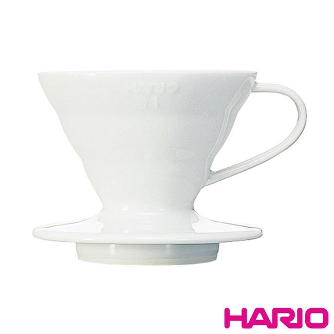 【HARIO】V60白色01磁石濾杯1~2杯 VDC-01W
