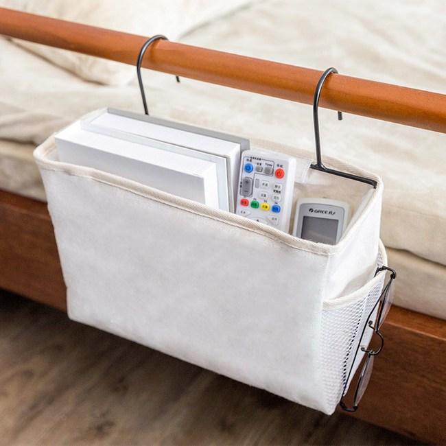 日式布質掛式收納袋-白