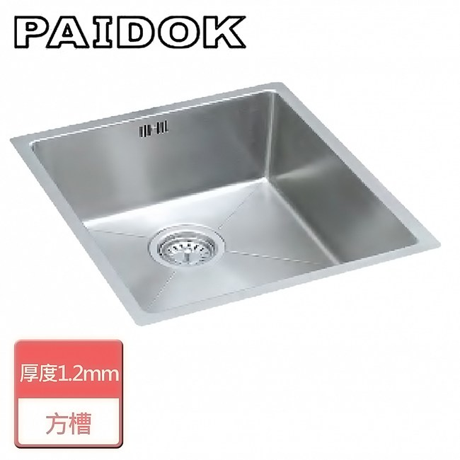 【PAIDOK】不銹鋼方形水槽-無安裝服務-PDK-FR105