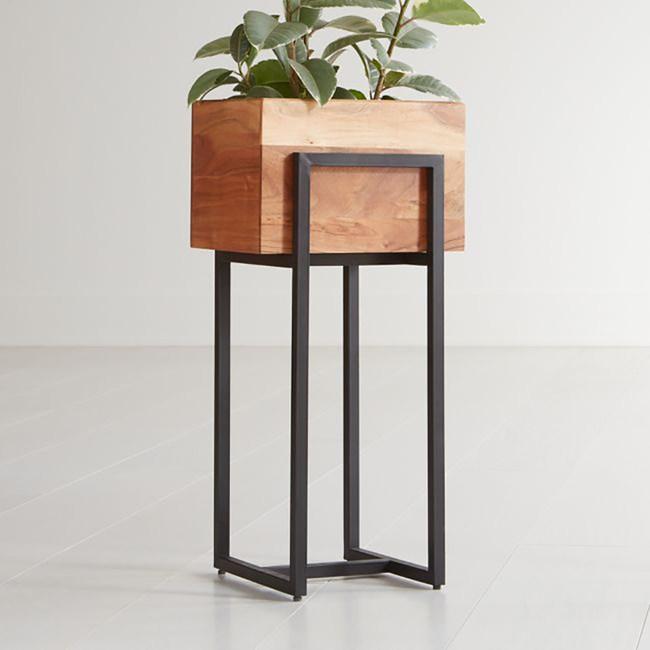 Crate&Barrel Arcaydia 木質花器 (M)