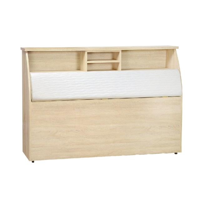 【YFS】倫恩3.5尺原切橡木白皮面床頭箱-109x30x112cm
