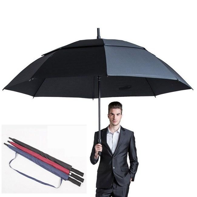 【PUSH! 好聚好傘】專利抗風降壓雙層自動傘遮陽傘防雷傘(黑色)I64