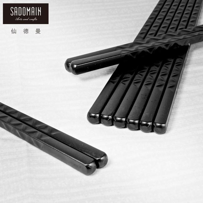 【仙德曼 SADOMAIN】高玻抗菌筷-波浪/10雙